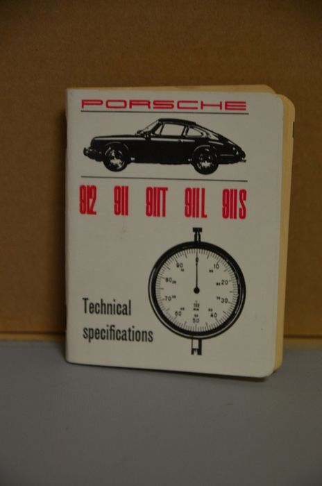 Brochures / catalogues - Porsche - Porsche 912 911 T L S  Technical Specifications  - 1967-1967