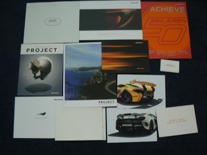 Brochures/Catalogues - McLaren - 650S Super Series MP4-12C P1 - 2018