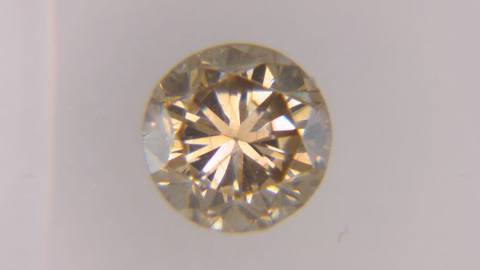 1 pcs Diamond - 0.43 ct - Round - fancy brown - VS1, No Reserve Price!