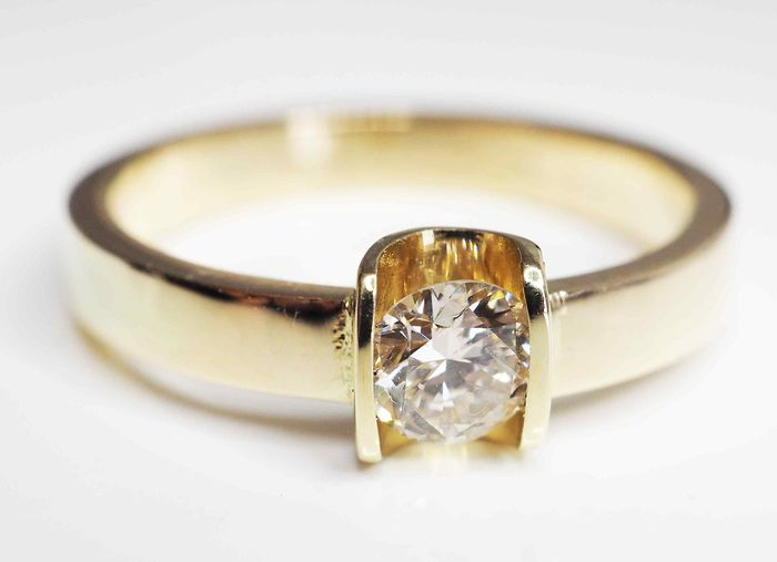 14 kt. Yellow gold - Ring - 0.37 ct Diamond