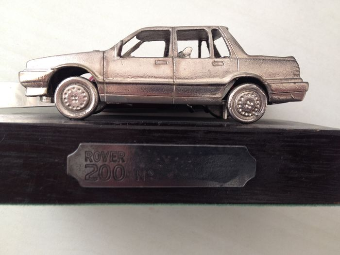 Decorative object - Rover - unique and rare silver / tin model of Rover 200 - 1989-1985