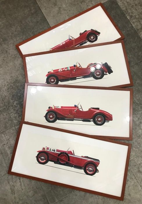 24 Mille Miglia car paintings from 1927 to 1957 - 2014