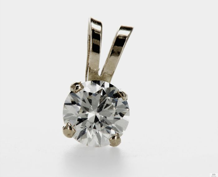 14 kt. Yellow gold - Pendant - 0.40 ct Diamond