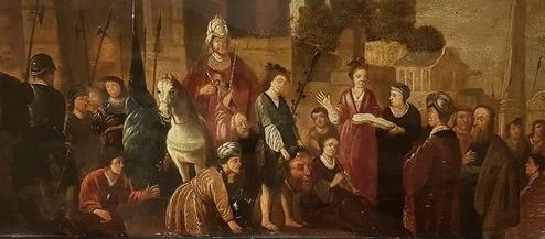 Flemisch school (17/18th century) - Biblical scene (Flemish school)