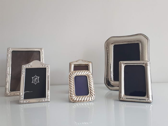 Collection of punched silver frames - Silver - Spain - Late 20th century