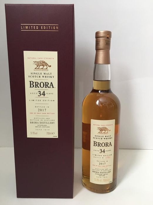 Brora 34 years old 16th Release - Original bottling - b. 2017 - 0,7 litros