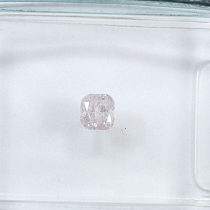 Diamant - 0.15 ct - Coussin - Natural Fancy Light Pink - I2 - NO RESERVE PRICE