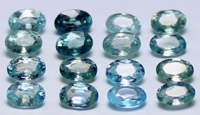 16 pcs  Zirkoon - 11.68 ct