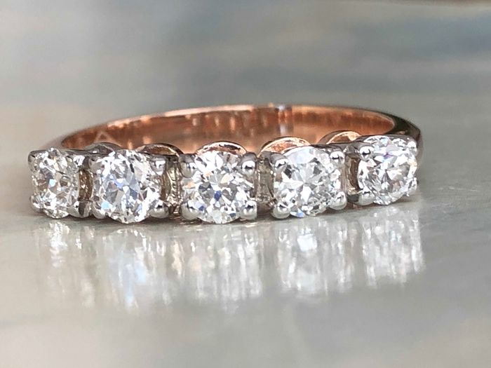 18 kt. Pink gold - Ring - 0.75 ct Diamond