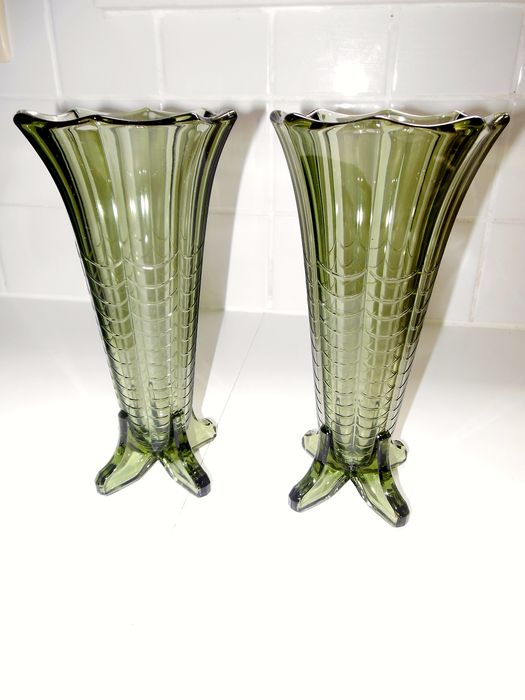 Val Saint Lambert - Vase (2) - Glass