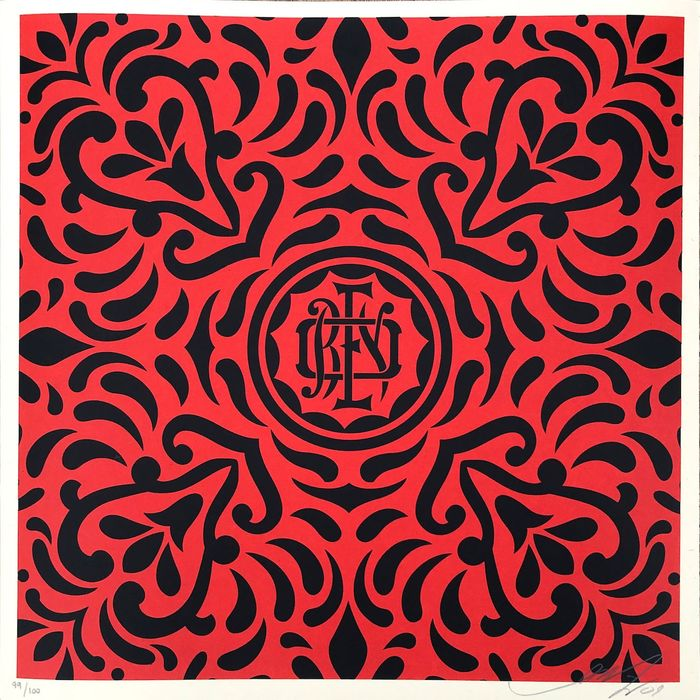 Shepard Fairey (OBEY) - Japanese Fabric Pattern 4