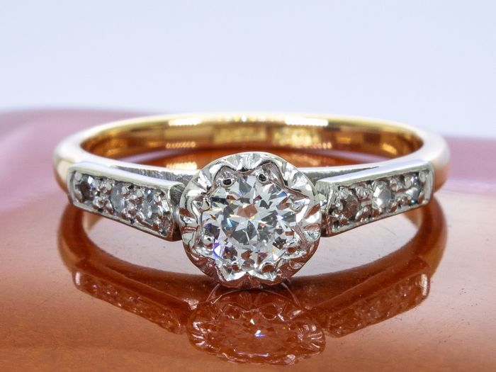 14 kt. Gold - Ring - 0.46 ct