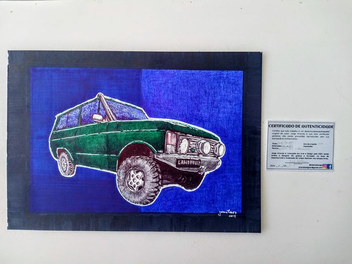 Picture - Land Rover - Original ballpoint pen drawing by Jorge Antunes - 2014