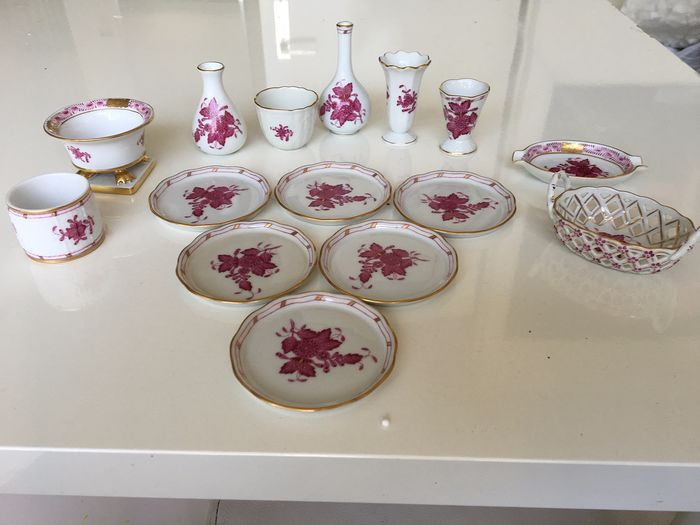 Herend - coasters, vases and bowls - apponyi rose (16) - Porcelain