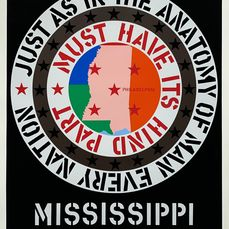 Robert Indiana (1928-2018) - 'Mississippi 1971' Limited Edition Serigraph