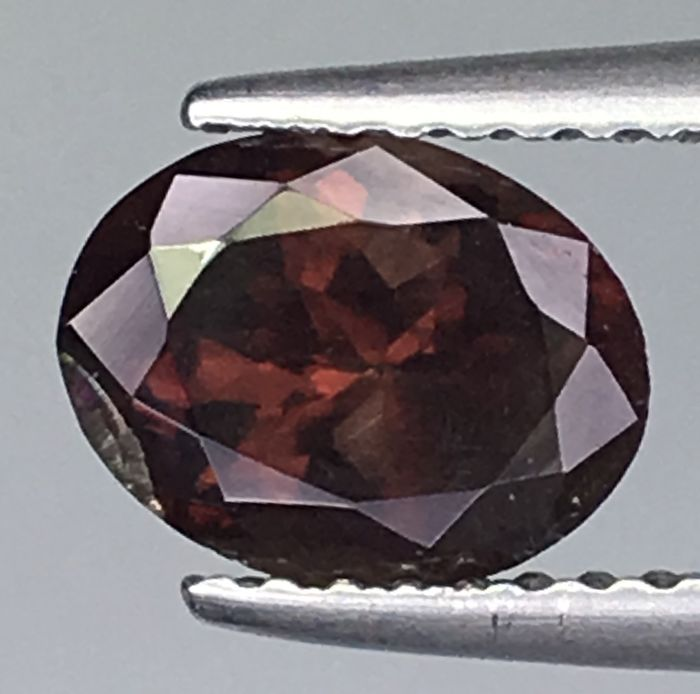 Brown, Green, Red Garnet - 1.65 ct