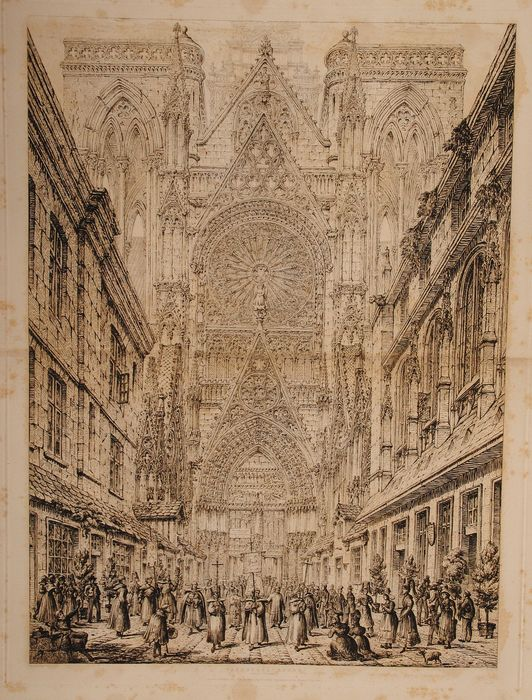 John Coney - Cathedral - Rouen North Entrance