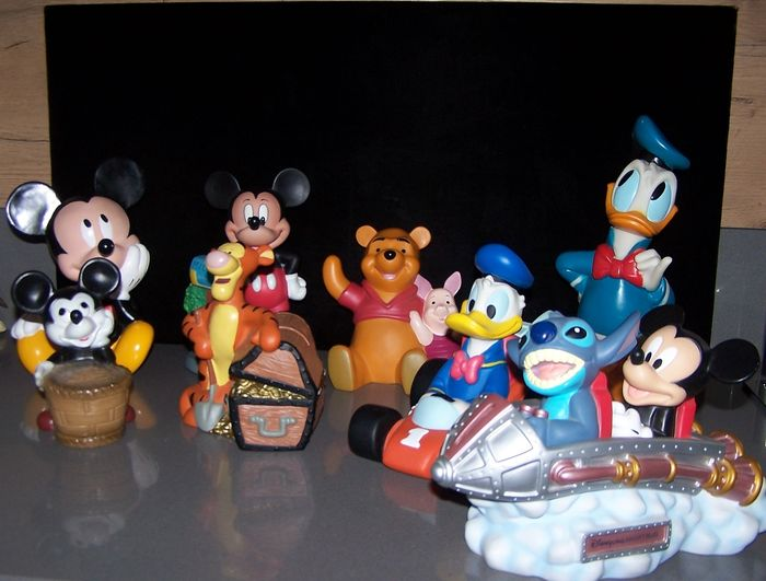 Walt Disney 8 Rubberen Spaarfiguren Oa Donald Duck