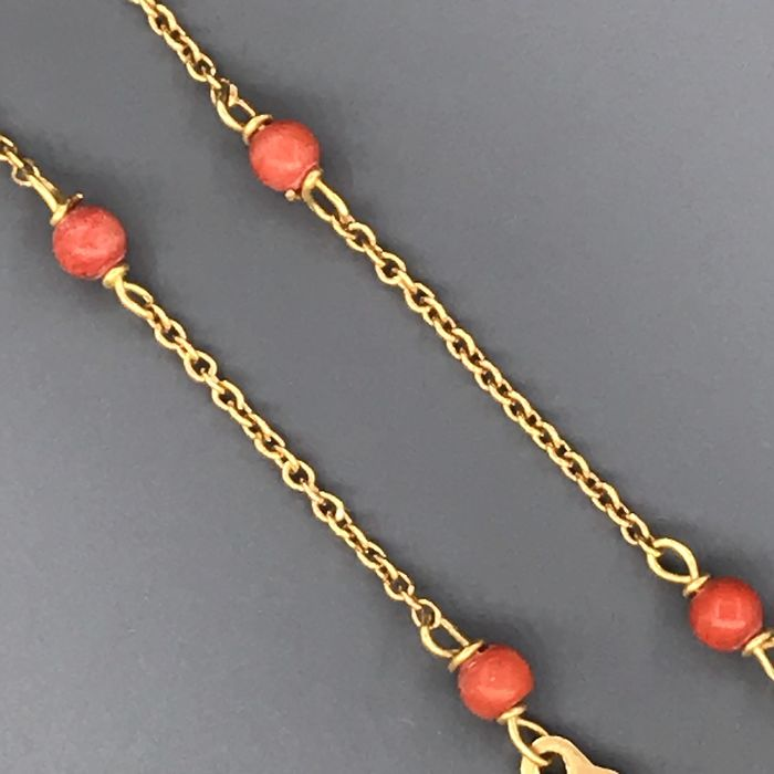 18 kt yellow gold - Coral bracelet
