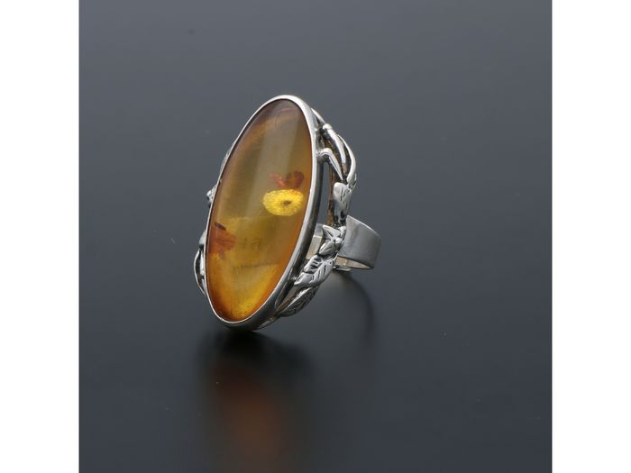 925 Silver - Amber Ring