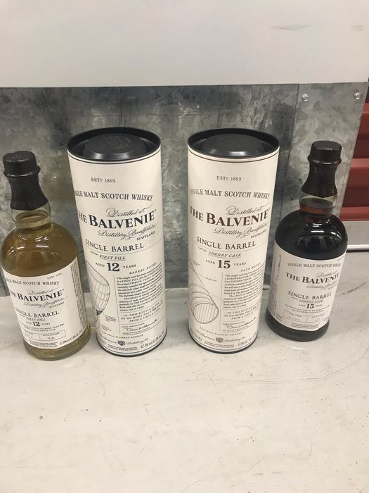 Balvenie 12 years old Single Barrel & 15 years old Single Barrel - 0.7 Ltr