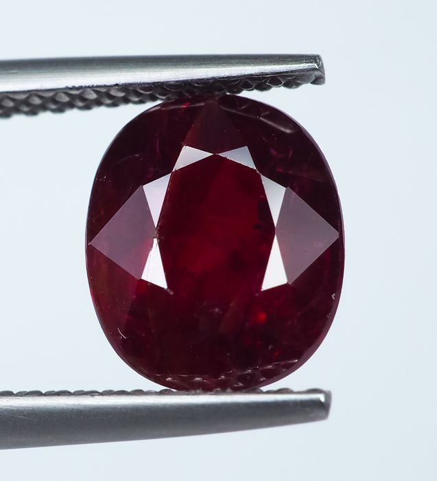 No Reserve - Red Ruby  - 3.24 ct