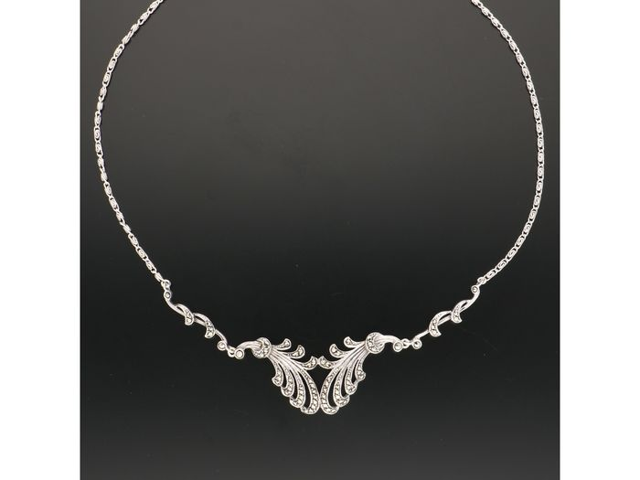 835 silver - necklace marcasite