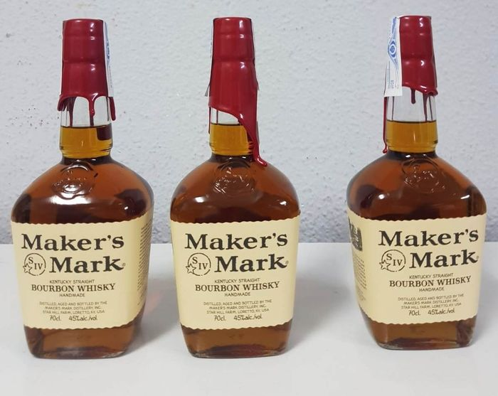 Maker's Mark Kentucky Straight Bourbon Whisky - 70cl - 3 bottles