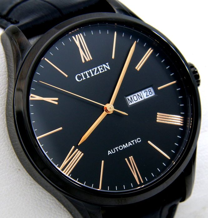 "Citizen - Automatic ""All Black"" Gold Tone - ""NO RESERVE PRICE"" - Heren - 2018"