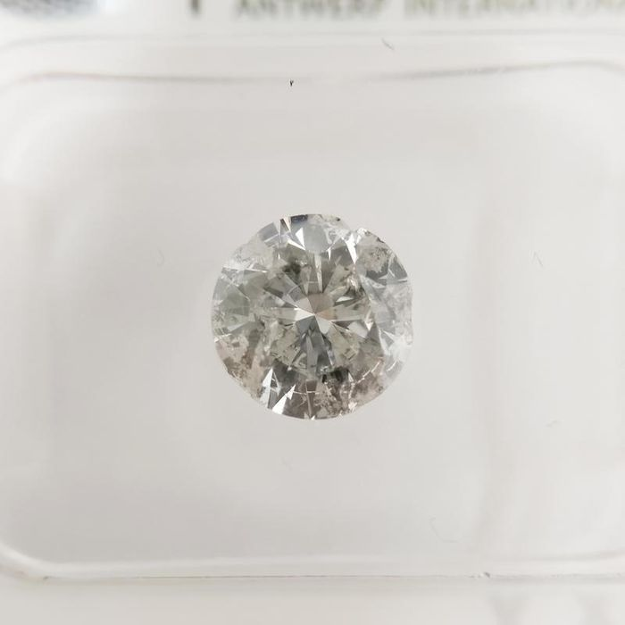 1 pcs Diamond - 0.99 ct - Round - G - I2