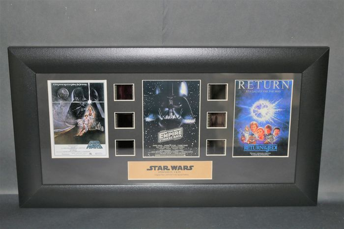 Star Wars - Trilogy Film Cell Display - Episodes IV, V, VI - A New Hope, The Empire strikes Back, Return of the Jedi
