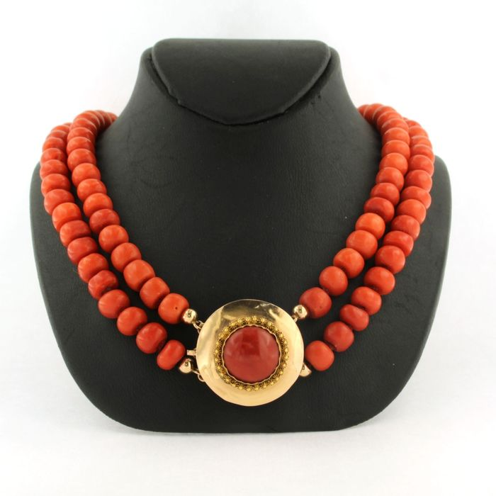 14 kt. Pink gold - Necklace Coral