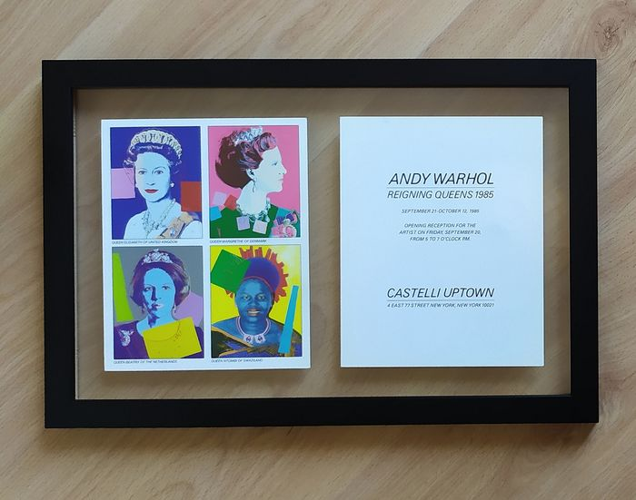 Andy Warhol - Reigning Queens - Original invitation card - 1985