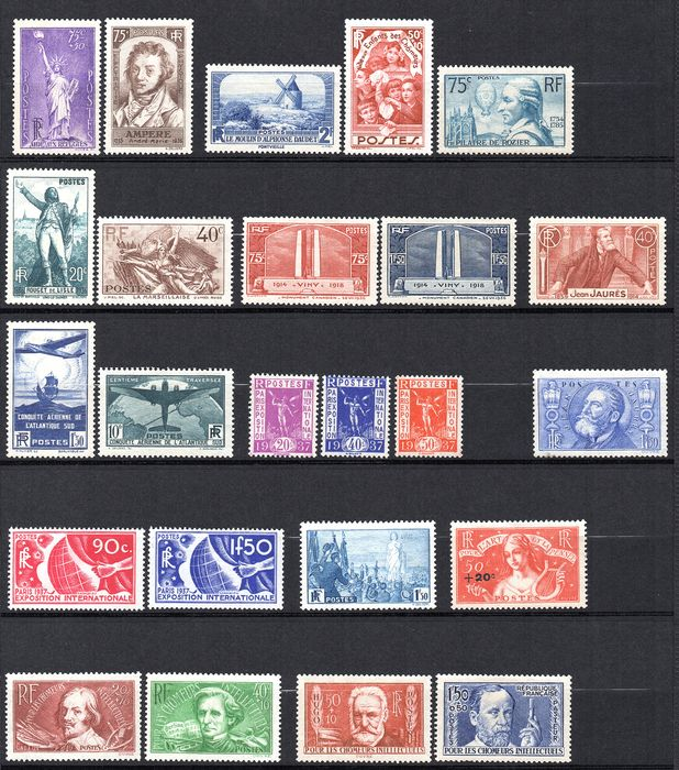 France 1936 - Complete year - Maury 309/333