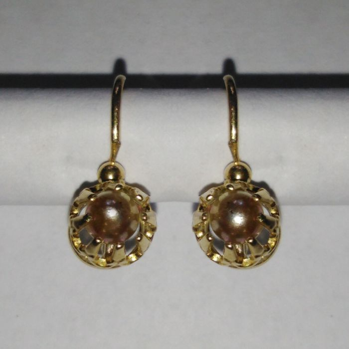 18 kt. Gold - Earrings Pearl