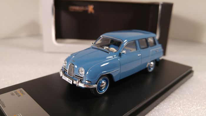PremiumX - 1:43 - SAAB 95 Estate 1961 Grey Blue - Limited Edition PRD451