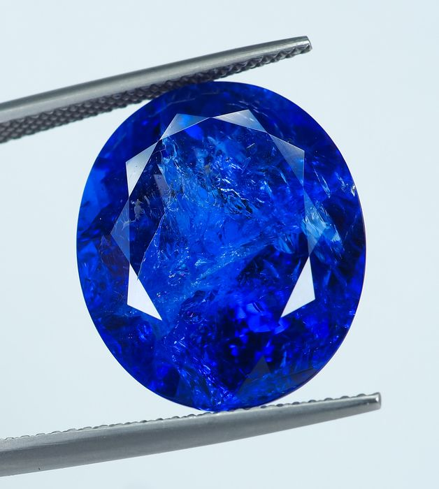 No Reserve - Deep Bluish Violet Tanzanite - 21.75 ct
