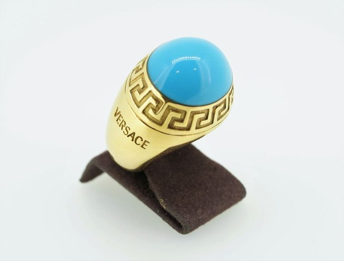 Versace - 18 kt. Yellow gold - Ring Turquoise