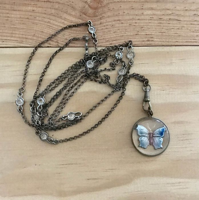 Silver plated - Necklace with pendant