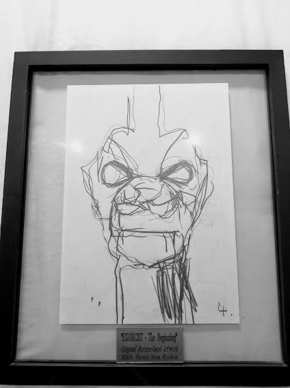 "The Exorcist III The Beginning (1990) - George C. Scott  - Screen used ""Demon Drawing"" - with Coa"