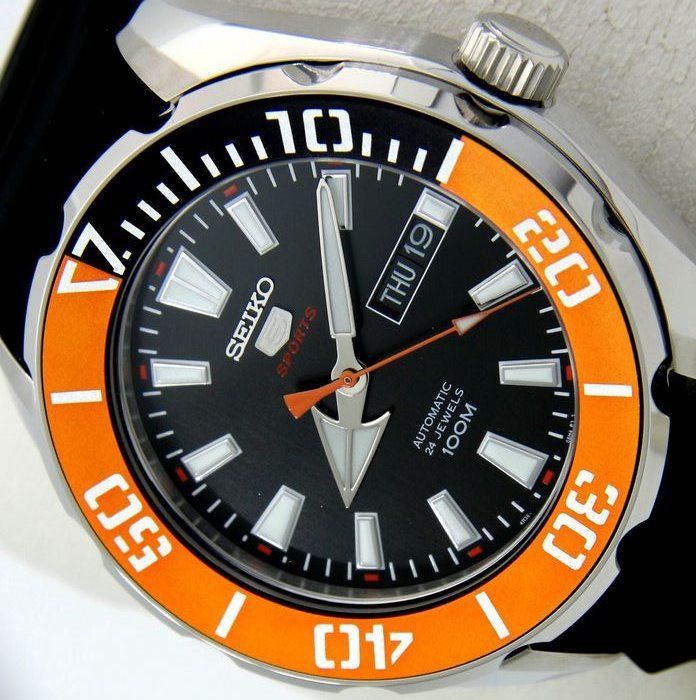 "Seiko -  Automatic 24 Jewels ""Sport Look"" - - ""NO RESERVE PRICE"" - - Hombre - 2018"