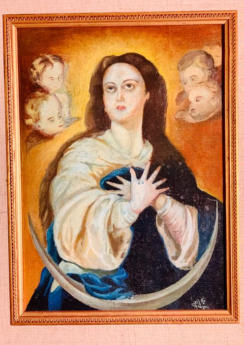 Immaculate Virgin painting - Oil painted on canvas