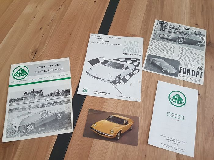 Brochures / catalogues - Lotus - LOTUS EUROPE / A MOTEUR RENAULT - 1964-1968