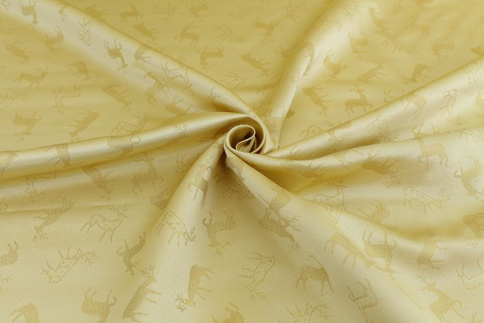 6.00 MT !!!!!!!!!!!! Fantastic satin christmas fabric design christmas star with gold lurex - cotton blend, textile, canvas, stoff, tissu, texture, fabric