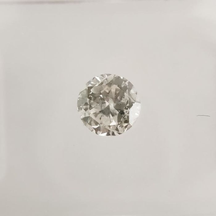 1 pcs Diamond - 0.32 ct - Round - F - SI2