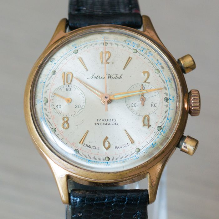 """Astree Watch - Chronograph - """"NO RESERVE PRICE"""" - Cal. 7730 - Heren - 1970-1979"""