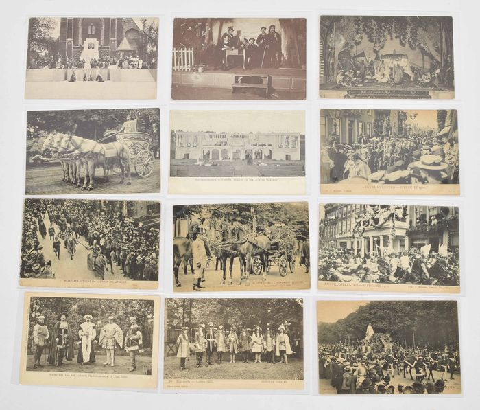 Netherlands - Studentica / Masquerades - Leiden / Utrecht - Postcards (Collection of 73) - 1900-1920