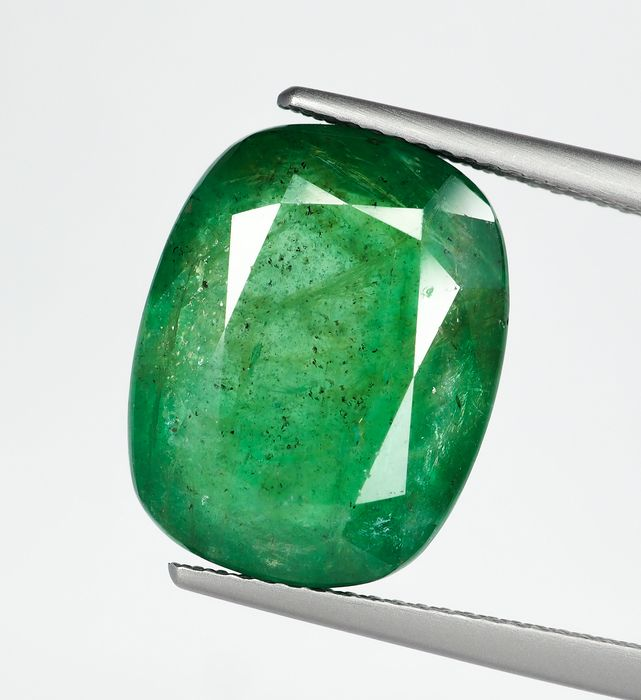 No Reserve - Deep Green Emerald - 11.49 ct