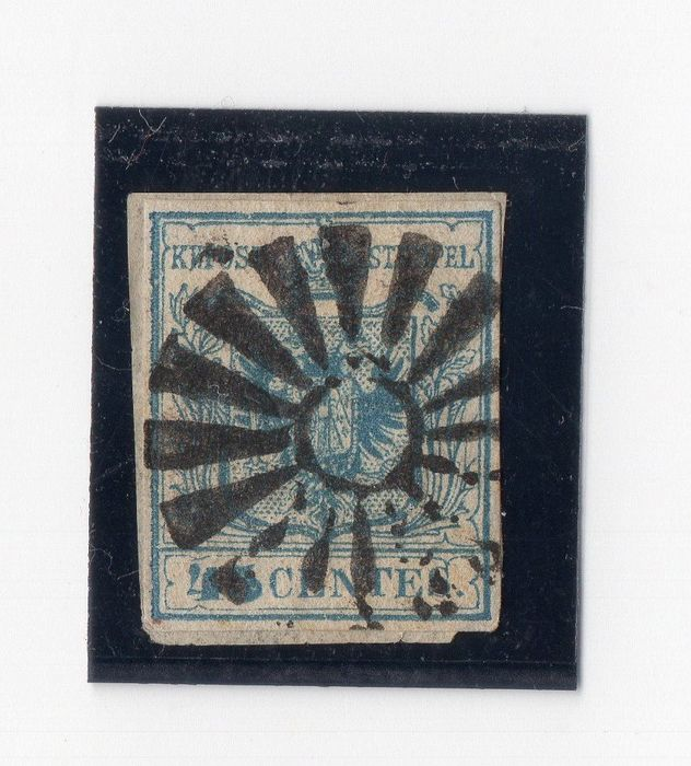 Lombardy–Venetia 1850 - collection with many top items, including a mute cancellation from Milan