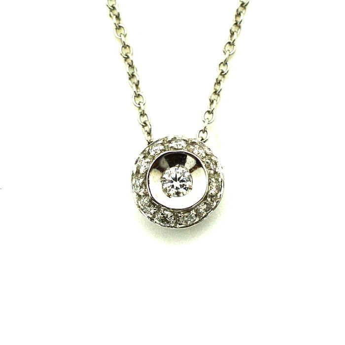 18 kt. White gold - Necklace with pendant Diamond - Diamond